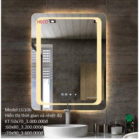 Gương sấy cảm ứng đèn Led Heco LG-106
