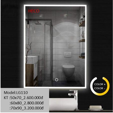 Gương sấy cảm ứng đèn Led Heco LG-110