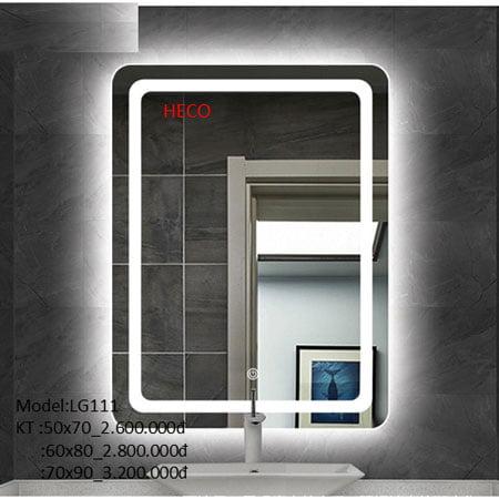 Gương sấy cảm ứng đèn Led Heco LG-111