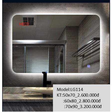 Gương sấy cảm ứng đèn Led Heco LG-114