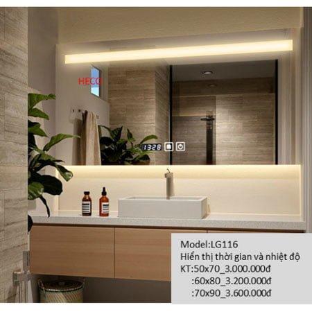 Gương sấy cảm ứng đèn Led Heco LG-116