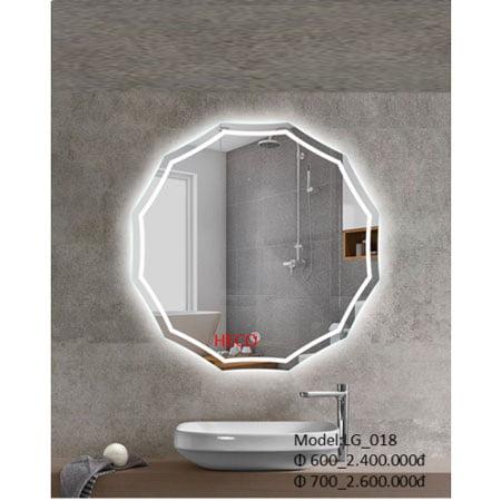 Gương sấy cảm ứng đèn Led Heco LG-018