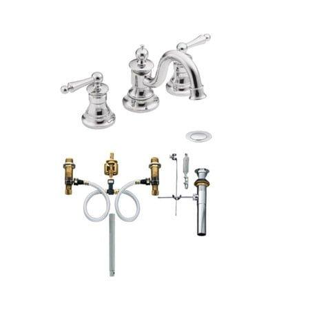 Vòi rửa lavabo nóng lạnh 3 lỗ Mone TS418-9000
