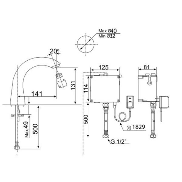Vòi rửa lavabo cảm ứng American WF-8815