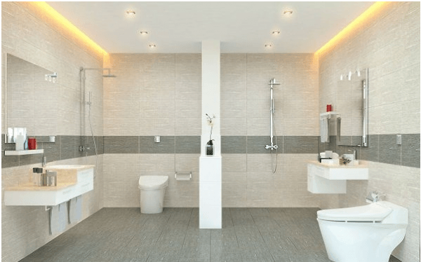 sử dụng gạch royal cho phòng tắm