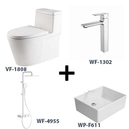 Bộ sản phẩm phòng tắm American Gói 1