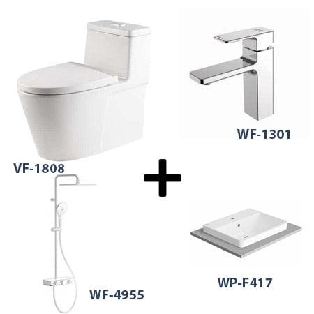 Bộ sản phẩm phòng tắm American Gói 3