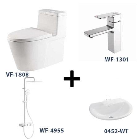 Bộ sản phẩm phòng tắm American Gói 4