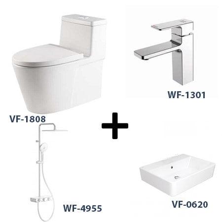 Bộ sản phẩm phòng tắm American Gói 6