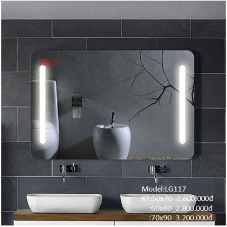Gương sấy cảm ứng đèn Led Heco LG-117