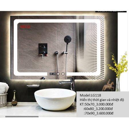 Gương sấy cảm ứng đèn Led Heco LG-118