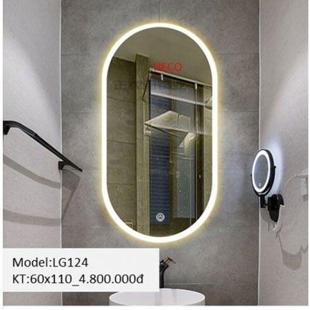 Gương sấy cảm ứng đèn Led Heco LG-124