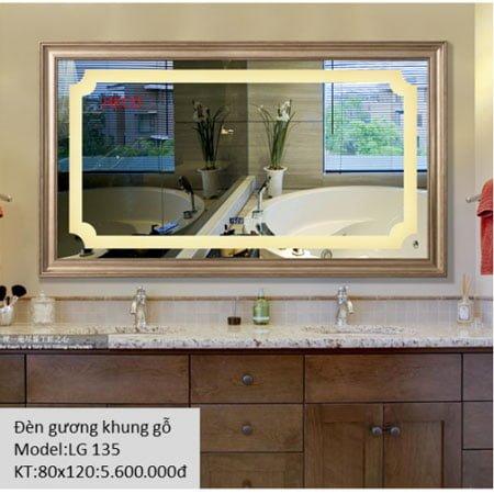 Gương sấy cảm ứng đèn Led Heco LG-135
