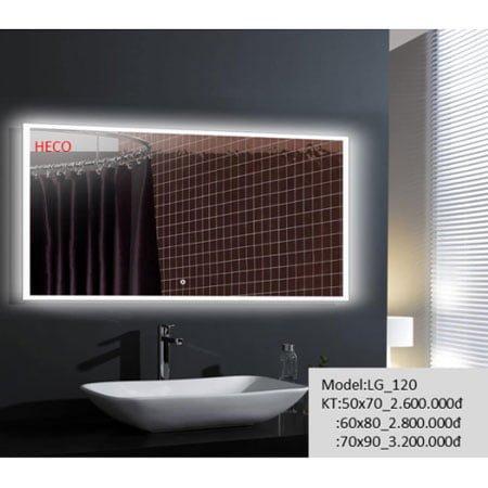 Gương sấy cảm ứng đèn Led Heco LG-120