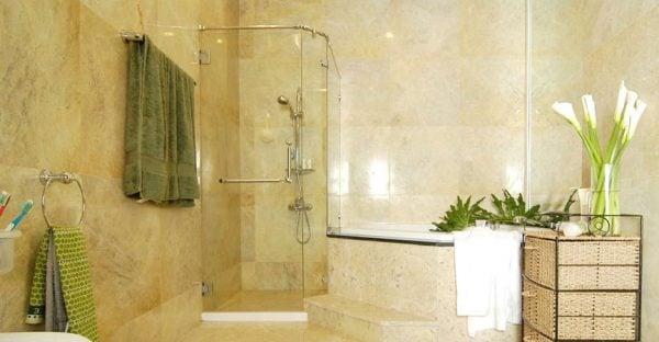 Phòng tắm kính thiết kế tinh tế