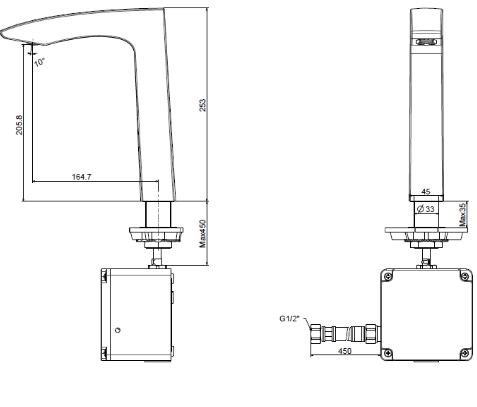 Vòi rửa lavabo cảm ứng American WF-8507