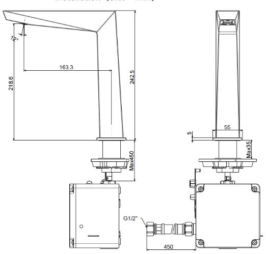 Vòi rửa lavabo cảm ứng American WF-8510