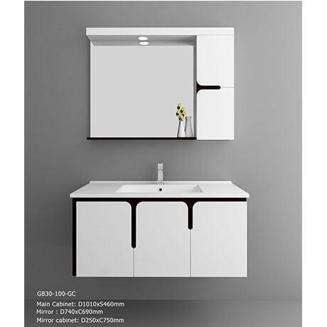 Bộ tủ chậu PVC cao cấp BROSS PT1020(chưa bao gồm vòi+ xi phông)