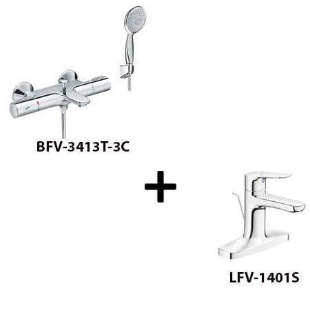 Sen tắm Inax BFV-3413T-3C kèm vòi rửa LFV-1401S