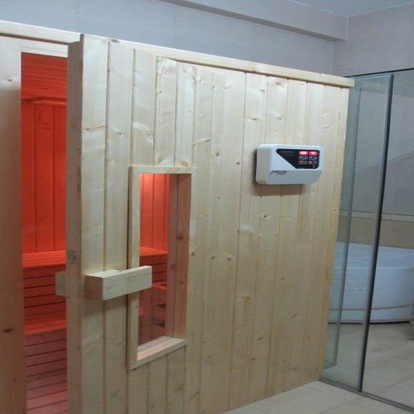 Phòng xông hơi theo yêu cầu có các linh kiện nhập chất lượng, phong cách hiện đại