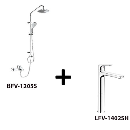 Sen cây Inax BFV-1205S kèm vòi rửa LFV-1402SH