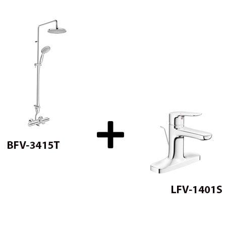 Sen cây Inax BFV-3415T kèm vòi rửa LFV-1401S