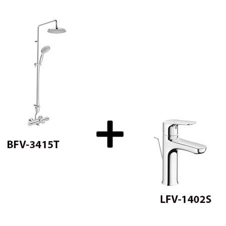 Sen cây Inax BFV-3415T kèm vòi rửa LFV-1402S