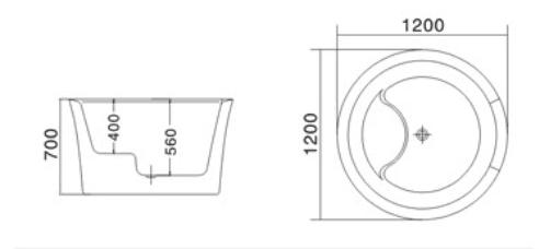 Bản vẽ - Bồn tắm TDO 5006