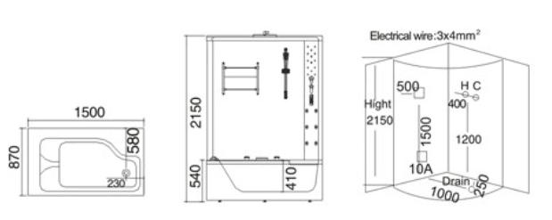 Phòng xông hơi ướt TDO 7018A