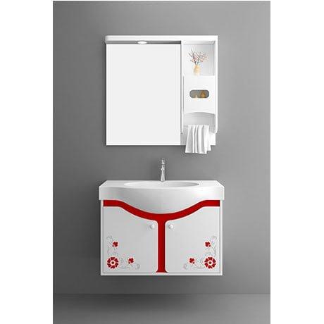 Bộ tủ chậu PVC cao cấp BROSS PT8025