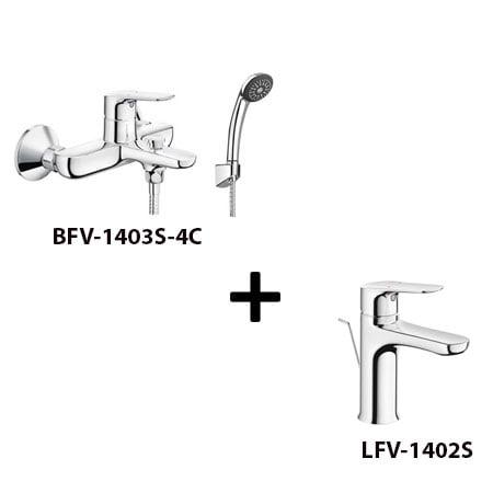 Sen tắm Inax BFV-1403S-4C kèm vòi rửa LFV-1402S