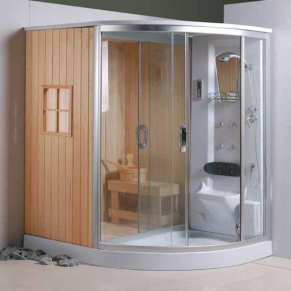 Phòng xông hơi ướt với hệ thống massage hiện đại