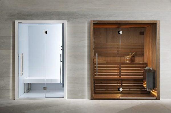 Phòng xông hơi hình chữ nhật