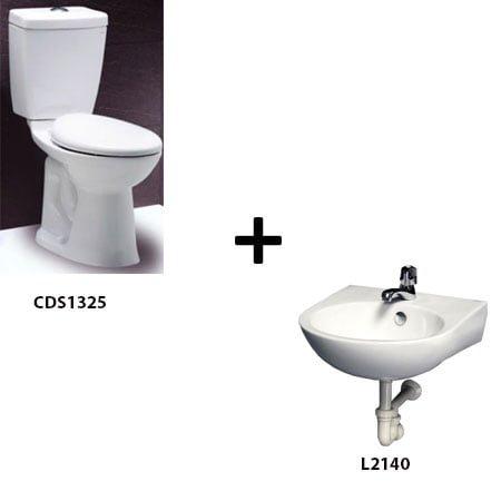 Bồn cầu Caesar CDS1325 kèm chậu rửa L2140 (Gói F1)