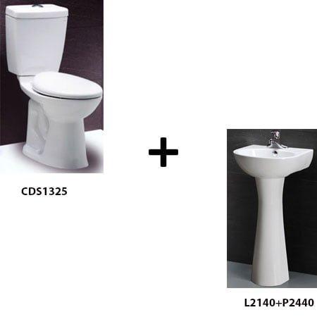 Bồn cầu Caesar CDS1325 kèm chậu chân đứng (F5)