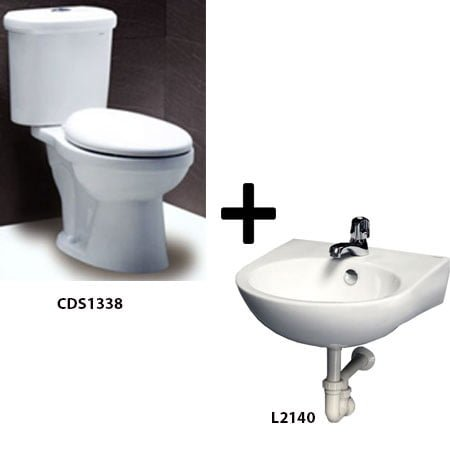 Bồn cầu Caesar CDS1338 kèm chậu rửa L2140 (Gói H1)