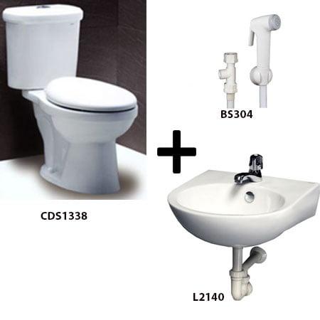 Bồn cầu Caesar CDS1338 kèm sản phẩm đồng bộ (H2)