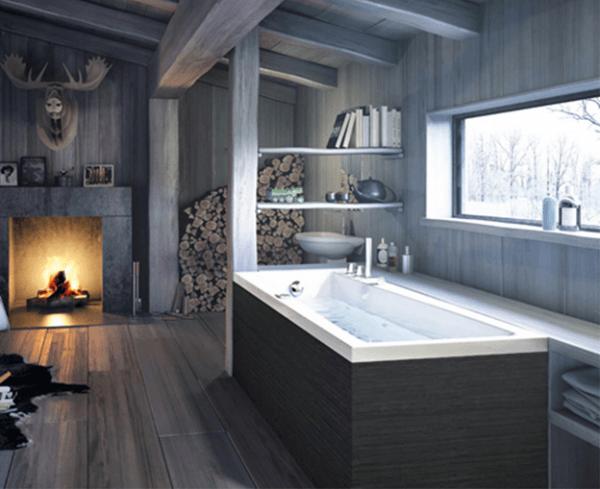 bồn tắm cho phòng tắm vừa