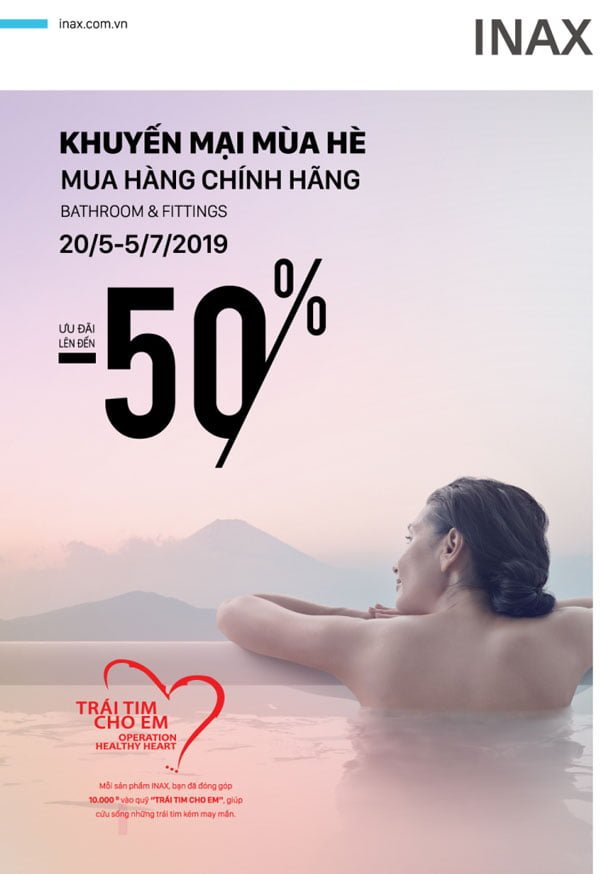 Khuyến mại Inax mùa hè 2019