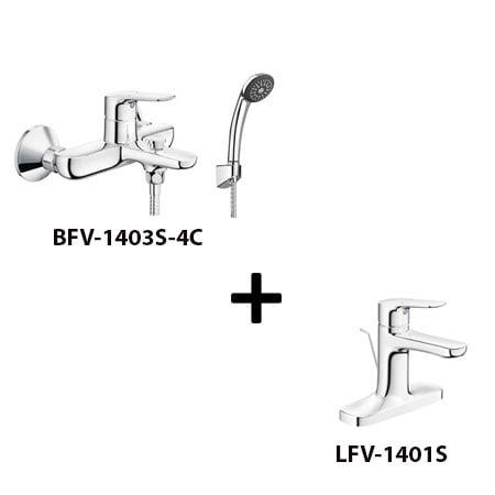 Sen tắm Inax BFV-1403S-4C kèm vòi rửa LFV-1401S