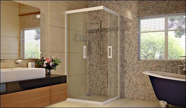Vách tắm kính được thiết kế đi kèm với các phụ kiện khác nhau