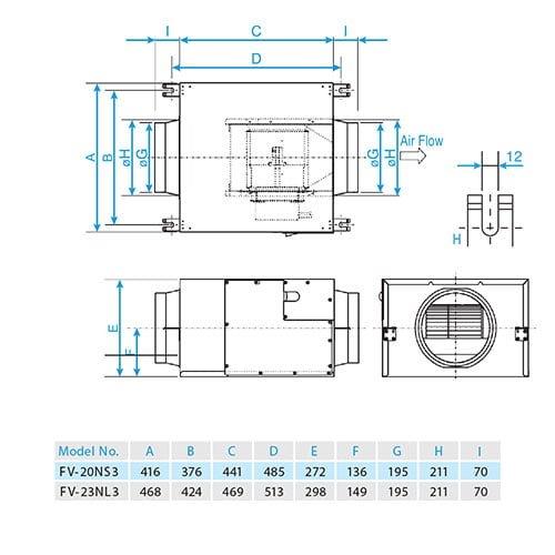 Quạt hút cabinet Panasonic FV-20NS3