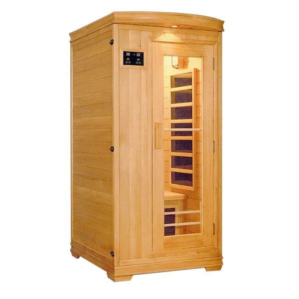 Phòng xông hơi khô có diện tích dao động từ 1.2 - 1.5 mét vuông, cao 2.1 mét