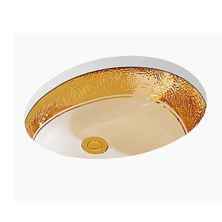 Chậu rửa lavabo Kohler K-14008T-PD-0 âm bàn mạ vàng