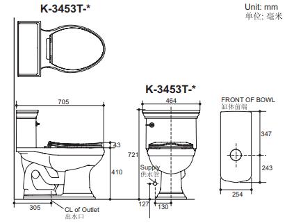 Bồn cầu Kohler K-3453T-AT-0 một khối