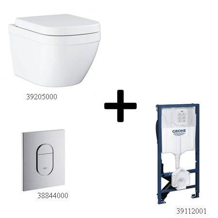 Bồn cầu Grohe 39205000 kèm sản phẩm đồng bộ