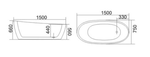 Bồn tắm TDO T-5017