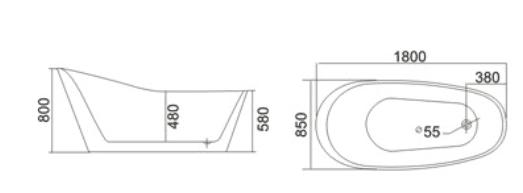 Bồn tắm TDO T-5024