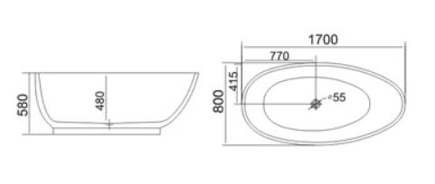 Bồn tắm TDO T-5028