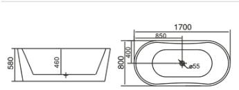 Bồn tắm TDO T-5036